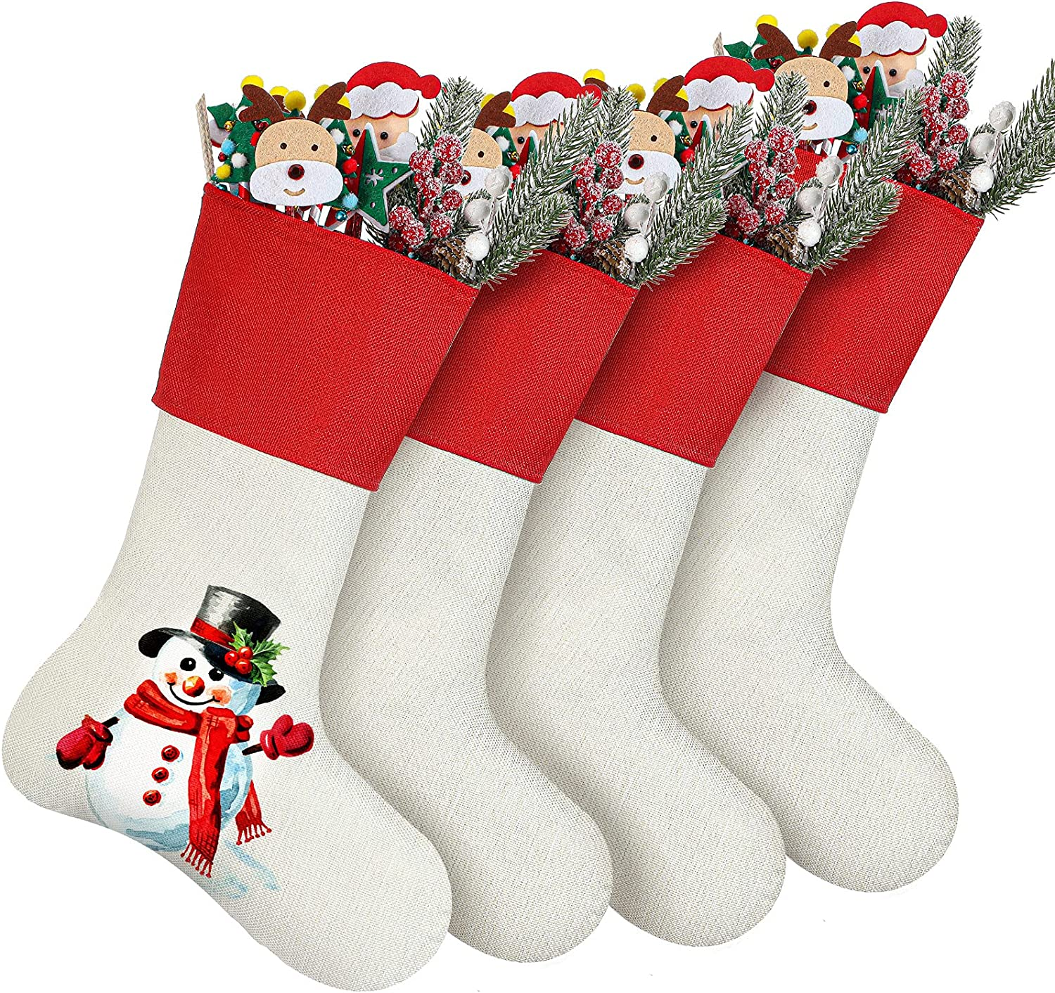 4 Pieces Popular brand in the world Christmas Stocking DIY At the price of surprise Xmas Sublimation Decor
