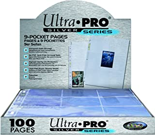 Ultra Pro 9-Pocket Silver Series Page Protector for Standard Size Cards (100ct)