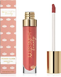 Jules Smith Power Lip Gloss - Vegan & Cruelty Free with Vitamins A & E - Neutral Lip Gloss with Natural Ingredients for Hydrating & Moisturizing - Agate Inspired Lipgloss - Namaste All Day