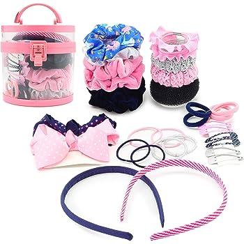 amilses Children Girls Bow Hair Clips Set Cartoon Rubber Hair Ring Band Hair Accessories Headbands