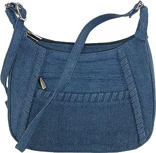 Denim Shoulder Handbag with Adjustable Strap