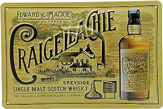 CRAIGELLACHIE Single Malt Scotch Whisky - Retro Blechschild 30 x 20 cm