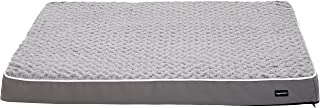 AmazonBasics Ergonomic Foam Pet Dog Bed - 35 x 44 Inches, Grey