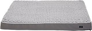 سرير الحيوانات الاليفة الرغوي المريح للكلاب من امازون بيسيكس- بقياس 35 × 44 انش، رمادي