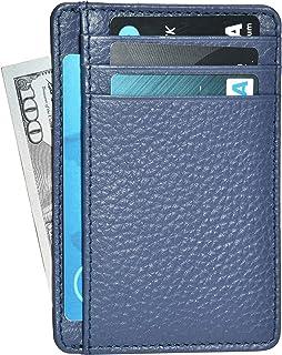 Amazon Brand - Eono Mens Wallet Small & Compact Design Genuine Leather Wallets for Men & Women - RFID Blocking Super Slim ...