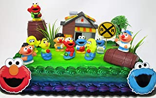 Kids Classic Cake Topper Set Featuring Big Bird, Elmo, Cookie Monster and Friends
