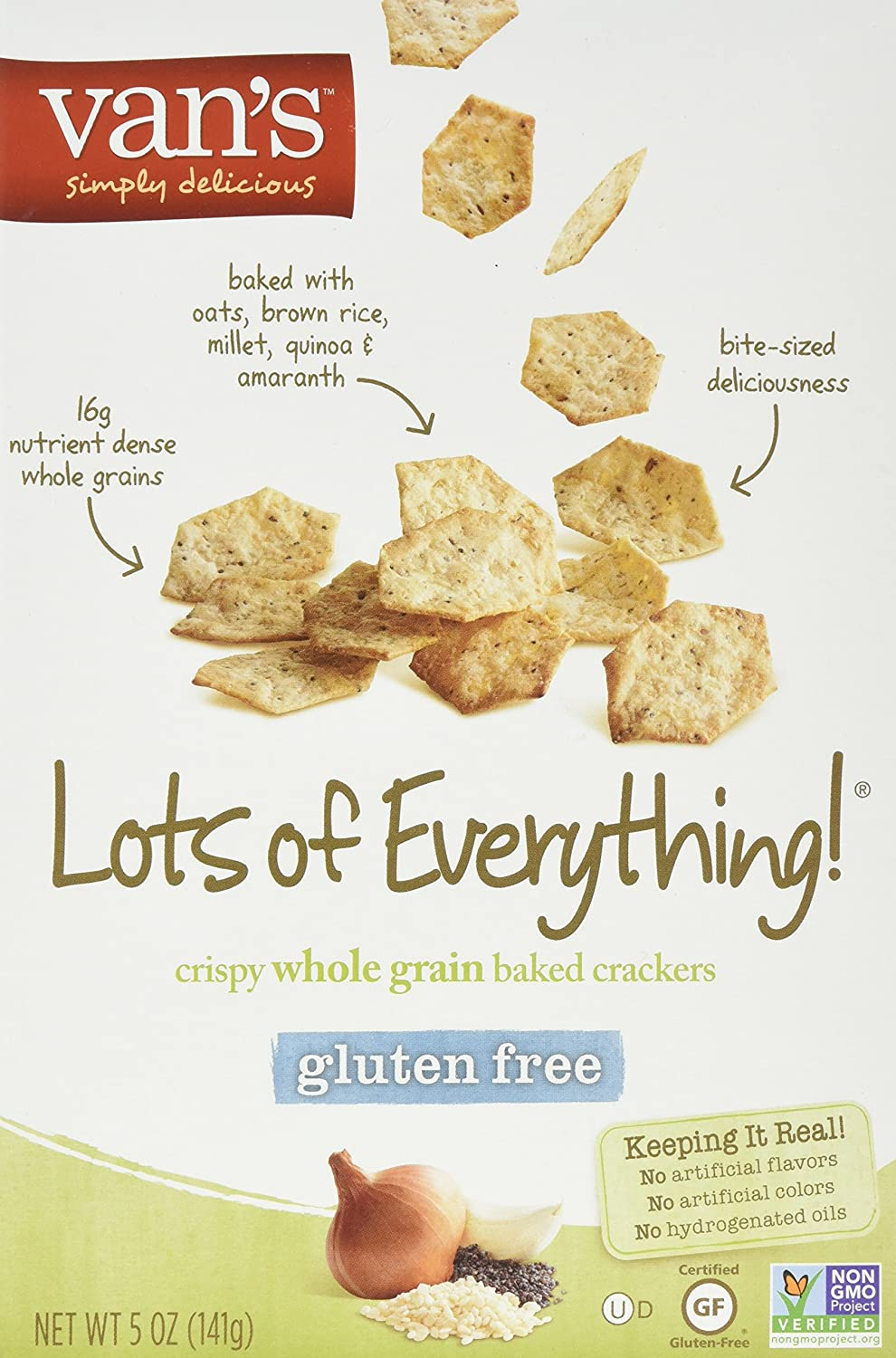Van's Simply Max 69% OFF Delicious Gluten-Free of Everything Crackers Lots Sale price