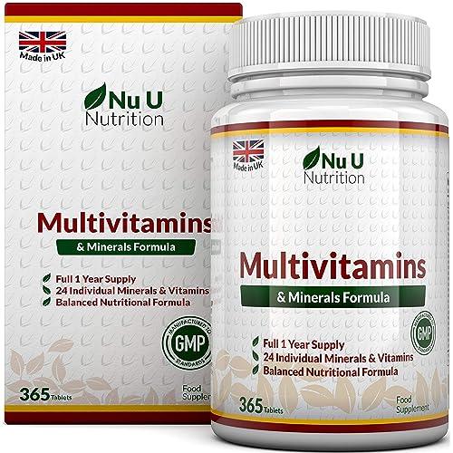 MultiVitamins & Minerals Formula | 24 complemento vitamínico (Vitaminas y Minerales | végétarien | hombre