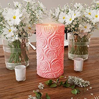 Lavish Home Realistic Flickering or Steady Flameless Pillar Light-Ambient Home Décor, 80-FC1009, NA, Na, NA