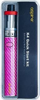 電子タバコ 爆煙 「正規品」【aspire/アスパイア】 K4 Quick Starter Kit (ピンク) ケーフォークイックスターターキット おまけ付き 本体 アトマイザー セット スターター キット vepe mod
