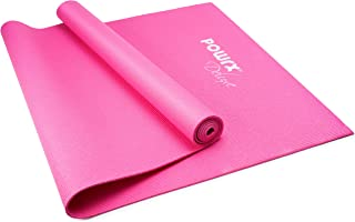POWRX yogamatta storlek: ca 173 cm x 61 cm x 0,4 cm halkfri träningsmatta/träningsmatta/gymnastikmatta/Pilatesmatta/fitnes...