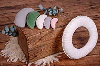 Set of 5 Positioning Pillows AND Positioning Ring for Newborn Photography Posing (filled)