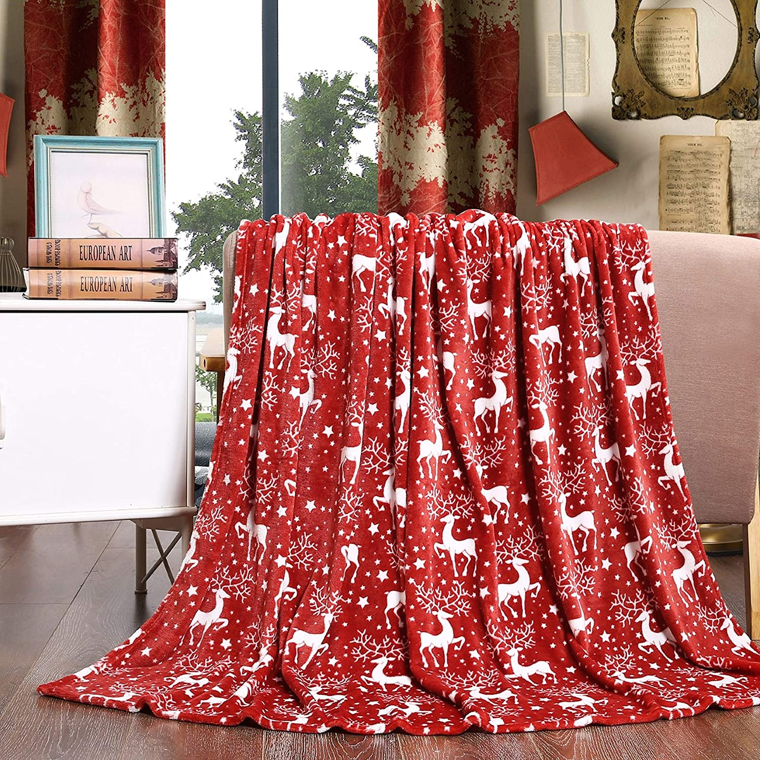 Elegant Comfort Velvet Touch 67% OFF of fixed price Ultra Super-cheap Christmas Plush Holiday Print