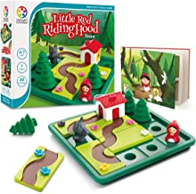 SmartGames Little Red Riding Hood Deluxe Board Game, A Preschool Puzzle Game & Brain Game for Kids, Cognitive Skill-Building Challenges, Ages 4-7.