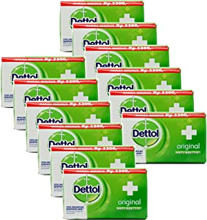 Dettol Anti-Bacterial Hand and Body Bar Soap, Original, 110 Gr/3.88 Oz (Pack of 12)
