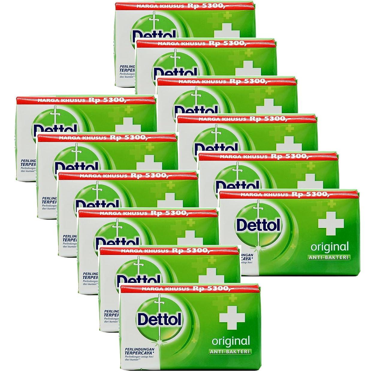 南方のインデックス近代化するDettol(デトール) Anti-Bacterial Hand and Body Bar Soap, Original, 110 Gr / 3.88 Oz (12個セット)