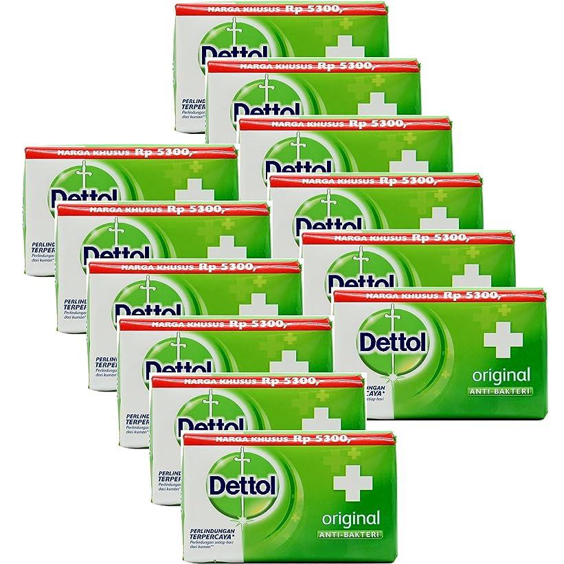 冒険家あいにく奨励Dettol(デトール) Anti-Bacterial Hand and Body Bar Soap, Original, 110 Gr / 3.88 Oz (12個セット)