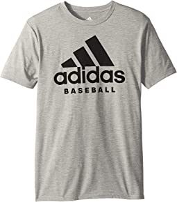 adidas Kids Baseball Sport Tee (Big Kids)