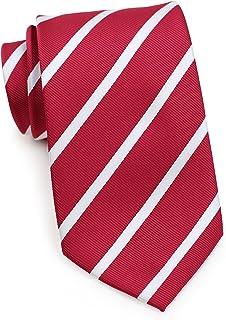 Sponsored Ad - Bows-N-Ties Men's Necktie Classic Repp Stripe Microfiber Matte Tie 3.25 Inches
