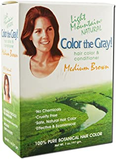 Light Mountain Natural - Color The Gray Hair Color & Conditioner Kit Medium Brown - 7 fl. oz.