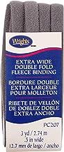 Wrights Heather Grey Double Fold Fleece Binding 1/2