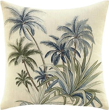 Tommy Bahama Serenity Palms Throw Pillow, 14 x 14, Aqua