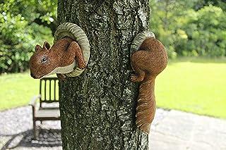 comprar comparacion Garden Mile® - Adorno de jardín con forma de ardilla roja, diseño de árbol de animales, decoración de jardín y árbol, para...
