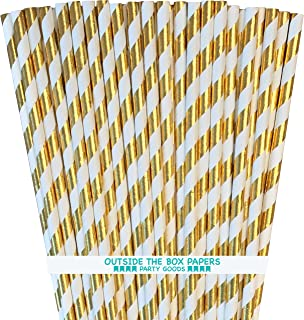 Best gold and white paper straws Reviews