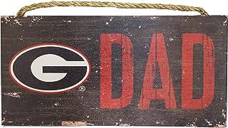 Fan Creations NCAA Georgia Bulldogs 12 x 6 Dad Wood Sign