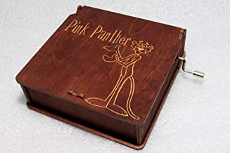 Pink Panther Music Box - #5 - Engraved Wooden Box -