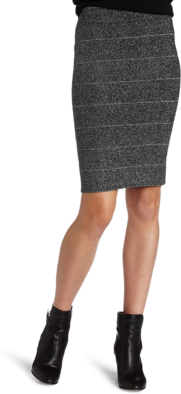 BCBGMAXAZRIA Women's Scarlett Pencil Skirt with Lurex
