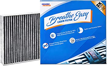 Spearhead Premium Breathe Easy Cabin Filter, Up to 25% Longer Life w/Activated Carbon (BE-854)