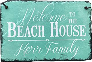 Sassy Squirrel Handcrafted and Personalized Slate House Sign - Welcome to The Beach House 12