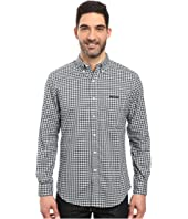 U.S. POLO ASSN. - Long Sleeve Dobby Check Button Down Sport Shirt