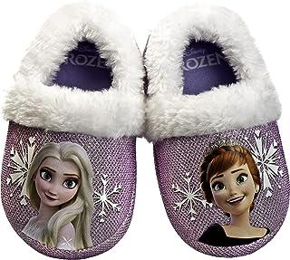 دمپایی سرپوشیده دخترانه السا و آنا دیزنی منجمد | دمپایی گرم سبک و مخملی