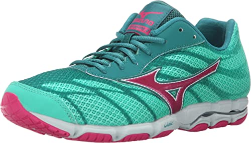 Mizuno Wohombres Wave Hitogami 3 Running zapatos, Malibu azul Fuchsia púrpura, 7 B US