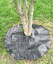 Agfabric Easy-Plant Weed Block Mulch,Tree Mat,Weed Barrier Mat,Woven Round Weed Barrier Fabric,Garden Mat,3.0oz,Dia-29 (20 Pack,Black)
