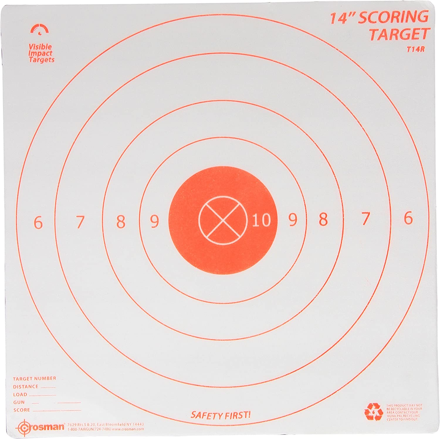 Crosman Visible Impact Target 3 All items in the store Targets Portland Mall Range 14-Inch Pack