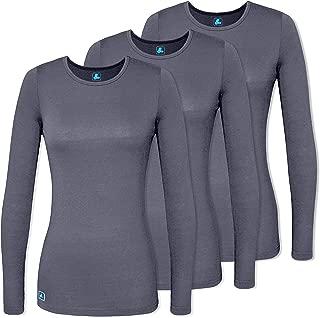 Adar Women's Comfort Long Sleeve T-Shirt/Underscrub Tee (3 Pack)