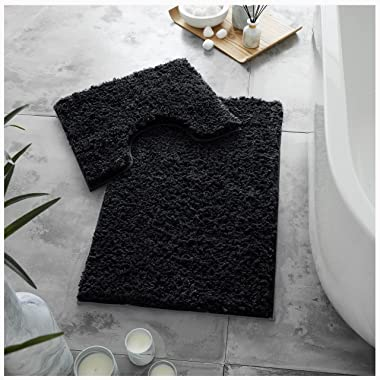 GC GAVENO CAVAILIA Juego de 2 Alfombrillas de baño de Lujo súper Suaves, Antideslizantes, Extra absorbentes, 100% poliéster,