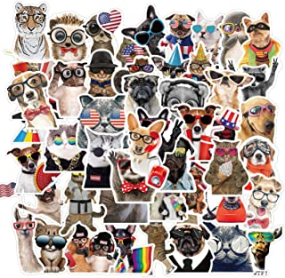 50pcs Cute Animals Stickers Decal Stickers - Animal Lovers Waterproof Vinyl Stickers for Laptop, Hydroflask, Skateboard, W...
