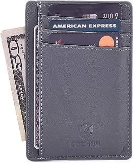 Travel Leather Wallets for Men & Women – RFID Blocking Slim Design Front Pocket Minimalist Stylish Credit Card Wallet