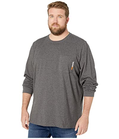 Timberland PRO Big Tall Base Plate Blended Long Sleeve T-Shirt (Dark Charcoal Heather) Men