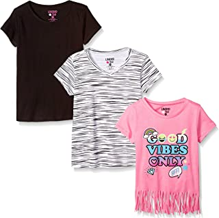 Limited Too Women's Big Girls' 3 Pack Short Sleeve Fashion T-Shirt Set