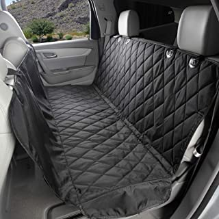 4Knines Dog Seat Cover with Hammock for Cars, Small Trucks, and SUVs - Heavy Duty, Non Slip, Waterproof -Black Regular - U...
