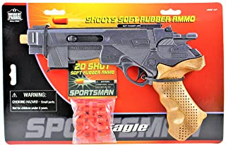 Sportsman 45 Eagle Toy Gun Comes with 20 Soft rubber Ammo