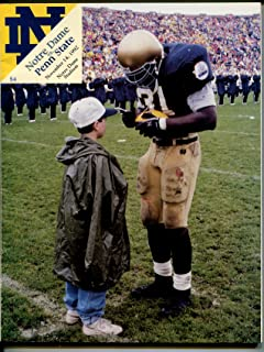 Notre Dame vs Penn St NCAA Football Game Program-11/14/1992-team info-pix-VG/FN