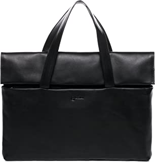 BACCINI Laptoptasche echt Leder VITO Businesstasche Aktentasche Laptopfach 15.6 Ledertasche Unisex schwarz