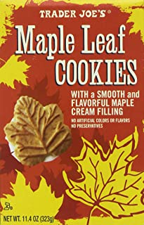 Trader Joe's Maple Leaf Cookies, Net WT. 11.4oz(323g)