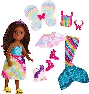 comprar comparacion Barbie Dreamtopia, muñeca morena Chelsea sirena, juguete +3 años (Mattel FJD01)